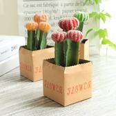 北歐仿真植物小盆栽綠色清新仙人掌盆景室內客廳宿舍裝飾擺件─預購CH1979