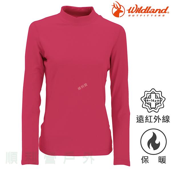 荒野WILDLAND 女款遠紅外線彈性保暖衣 W2651 玫瑰紅 衛生衣 內衣 發熱衣 OUTDOOR NICE