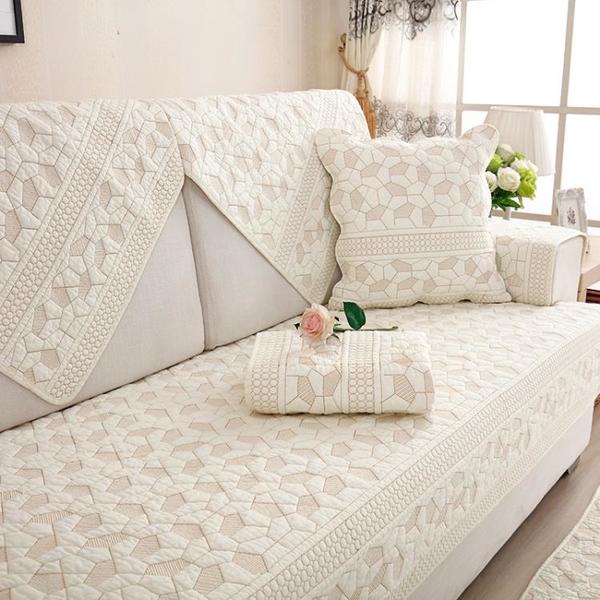 沙發墊純棉四季布藝簡約夏季坐墊現代通用北歐靠背防滑沙發套罩巾 黛尼時尚精品