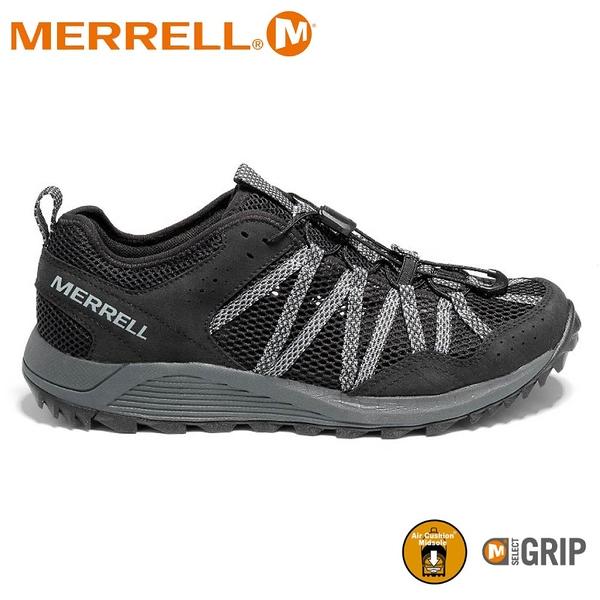 【MERRELL 美國 男 WILDWOOD AEROSPORT 水陸兩棲鞋《黑/灰》】ML036109/健行鞋/休閒鞋