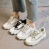 大碼運動鞋 大碼老爹鞋41-43春厚底百搭胖腳寬肥運動鞋學生