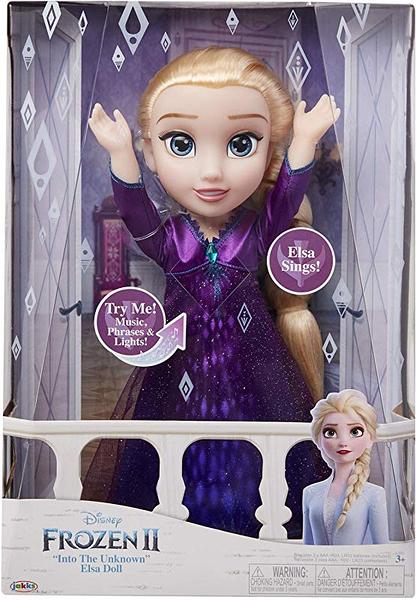 《 Disney 迪士尼 》冰雪奇緣2  Frozen 2 聲光艾莎娃娃╭★ JOYBUS玩具百貨