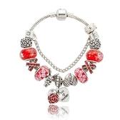 串珠手鍊-紅色系列琉璃飾品精美時尚女配件73kc284[時尚巴黎]
