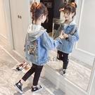 女童牛仔外套 上衣中大童春秋洋氣女孩兒童童裝潮【君來佳選】
