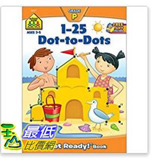 [106美國暢銷兒童軟體] 1-25 Dot-to-Dots (A Get Ready Book, Ages 4-6)