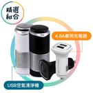 【94號鋪】商品組合 iSee淨速吸U-Clean USB空氣清淨機+車用充電頭