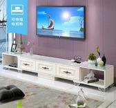 電視櫃 現代簡約電視櫃茶幾組合套裝歐式臥室地櫃迷妳小戶型客廳電視機櫃 igo夢藝家