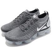 NIKE VAPORMAX FLYKNIT 2 灰銀 全氣墊 編織 休閒 慢跑鞋 男鞋 (布魯克林) 942842-014