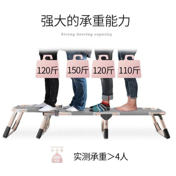 一勛辦公室摺疊床單人行軍床家用午睡椅多功能便攜簡易午休躺椅WD