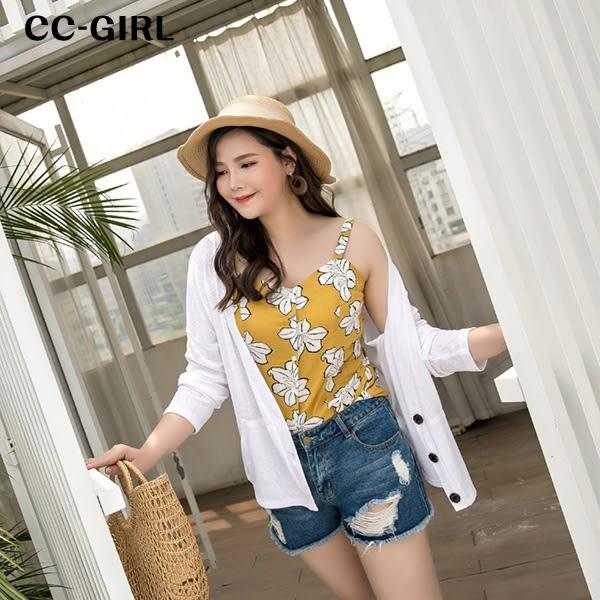 中大尺碼 防曬針織罩衫外套~共三色 - 適XL~4L《 66138i 》CC-GIRL 新品