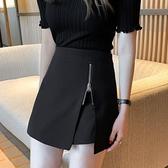 褲裙 大碼胖MM不規則春夏a字高腰半身裙防走光褲裙小個顯瘦包臀短裙女 韓國時尚週