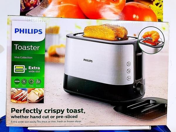 PHILPS 飛利浦 烤麵包機 加寛烘烤槽 可烤厚片土司 型號: HD2638