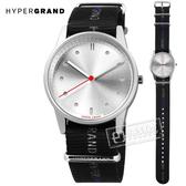 HyperGrand  / NW01EASY / 新加坡品牌 首創印花設計 極簡面板 尼龍手錶 銀x黑 38mm