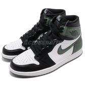 Nike Air Jordan 1 Retro High OG 黑 綠 白 6 Rings 男鞋 喬丹1代 【PUMP306】 555088-135