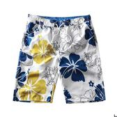 海邊度假沙灘褲男大碼寬鬆加肥200斤休閒五分褲泳褲溫泉沖浪褲衩   初見居家