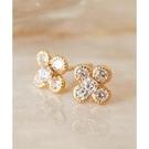 日本phoebe 閃耀鑽石花朵耳環