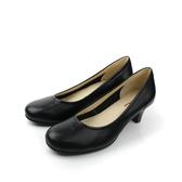 HUMAN PEACE MIT(台灣製) 真皮 皮革 舒適 柔軟 高跟鞋 上班族 戶外休閒鞋 黑色 女鞋 no396