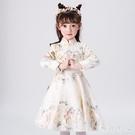 女童連身裙冬裝兒童公主洋裝裙禮服加絨加厚超洋氣新款女孩蓬蓬紗裙子LXY4602【極致男人】