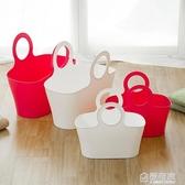 野餐籃日本進口水果籃子整理筐家用塑膠收納籃手提購物籃買菜籃子  ATF