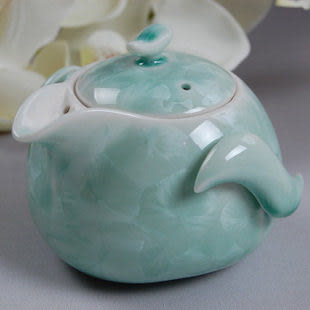 壓蓋結晶釉茶壺