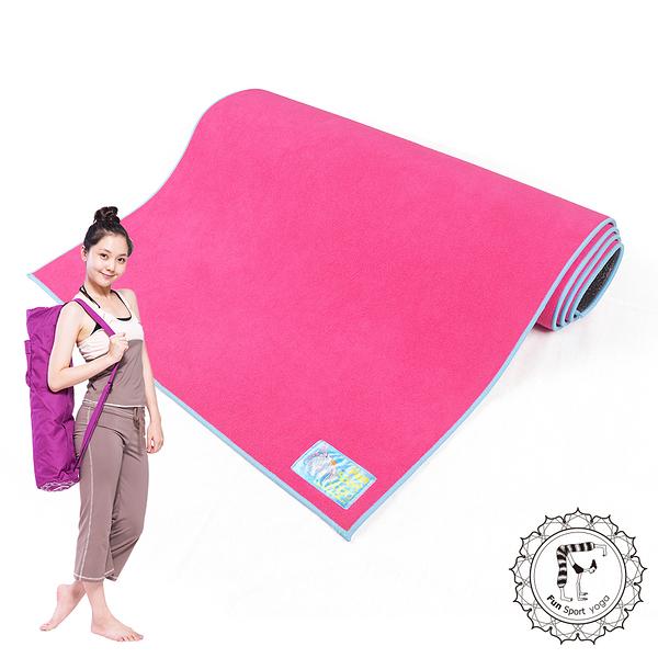 Fun Sport 淘氣小女王頂級瑜珈鋪墊-桃氣粉(送束帶+背袋)瑜珈墊/瑜珈鋪巾