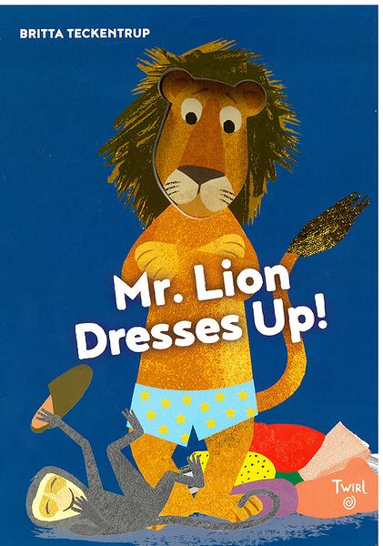 【麥克書店】MR LION DRESS UP /挖洞硬頁書《主題: 服裝.職業》