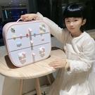 兒童頭飾卡子收納盒女孩公主寶寶梳妝整理可愛橡皮筋繩發夾首飾盒 設計師