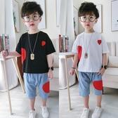 韓版男童夏裝套裝新款兒童洋氣男寶寶帥氣短袖兩件套夏季潮裝