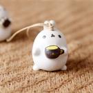 可愛小耳朵卡通兔子頭陶瓷風鈴