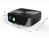 智慧投影儀家用小型便攜無線wifi家庭影院投影手機一體機墻投墻上看電影1080p 伊蒂斯 LX