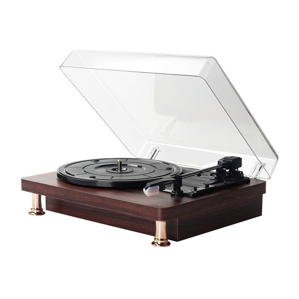熱賣【土城現貨】速出 迷妳黑膠唱片機復古留聲機生日禮物老式電唱機 coco
