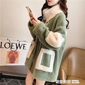 羊羔毛外套女秋冬季年新款韓版加絨加厚百搭網紅大碼女裝上衣 奇妙商鋪