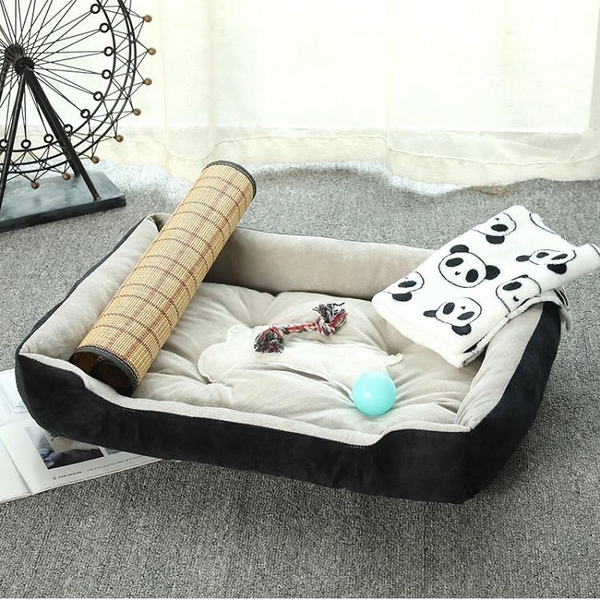 一佳寵物館 四季通用貓窩狗窩金毛泰迪大中小型犬狗床墊子夏季室內寵物窩用品