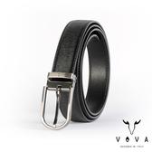 【VOVA】紳士圓頭穿針式髮絲紋皮帶(鎗色) VA003-008-GU