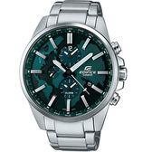 CASIO卡西歐EDIFICE世界地圖雙時區腕錶  ETD-300D-3A