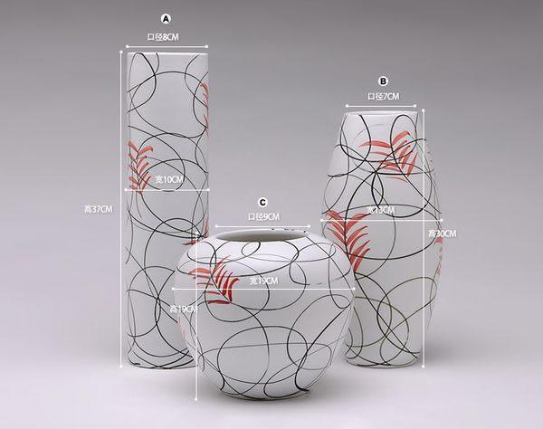 景德鎮 陶瓷花瓶 家居裝飾 創意花插 陶藝 工藝品擺設 喬遷禮品