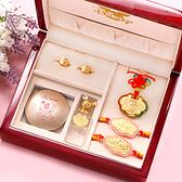 迪士尼系列金飾-彌月金飾禮盒-琉璃米奇款 (高級實木禮盒)