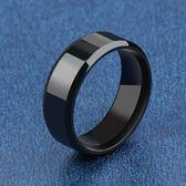 韓版時尚寬版鈦鋼 男士戒指 寬版個性食指環霸氣單身 熊貓本