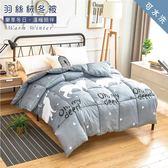 可水洗-【合版MB1】雪紡棉羽絲絨被+雙人床包組(獨家設計款)