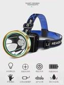 感應頭燈強光充電超亮LED夜釣魚打獵防水礦燈手電筒