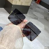 墨鏡2020ins歐美大框個性墨鏡潮男女款大臉方框方形防紫外線太陽眼鏡 coco