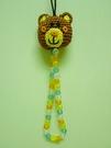 【震撼精品百貨】Daisy & Coro 熊與兔~珠珠針織手機吊飾『熊』