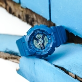 Baby-G CASIO / BA-110BC-2A / 卡西歐 雙顯 個性活力 搶眼 立體層次 防水100米 運動 橡膠手錶 藍色 42mm