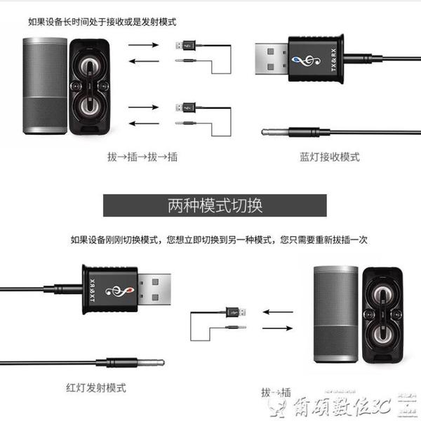 藍芽發射器接收器二合一5.0臺式電腦電視音頻3.5mm無線藍芽適配器  爾碩 交換禮物