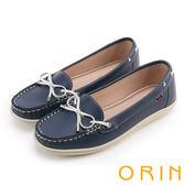 ORIN 復刻經典 嚴選高優質牛皮綁帶帆船鞋-藍色