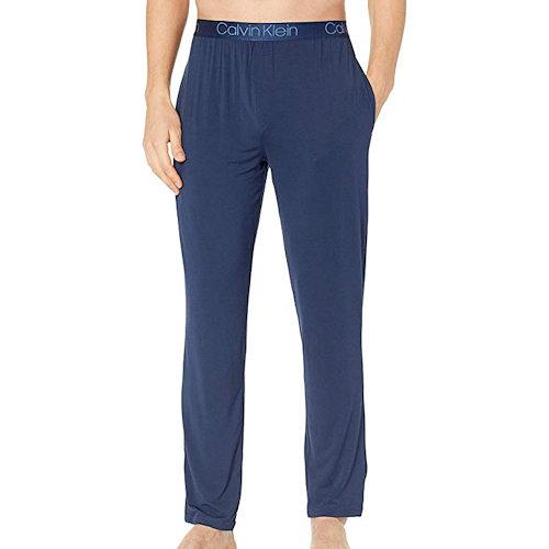 CK-男時尚超級柔軟絲般莫代爾睡褲(陰影藍)