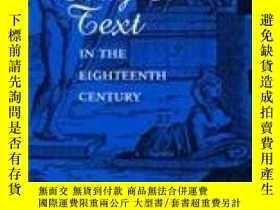 二手書博民逛書店Body罕見And Text In The Eighteenth CenturyY255562 Kelly,