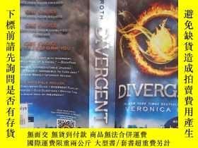 二手書博民逛書店罕見Divergent(詳見圖)Y6583 Veronica Roth (作者), Nicolas Delor