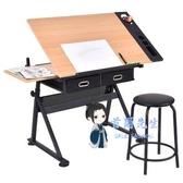 繪圖桌 升降電腦桌繪畫畫圖畫案美術製圖繪圖桌設計師書桌工作台桌子T