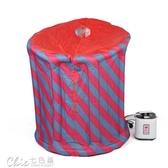 110V充氣式家庭蒸汽桑拿浴箱家用汗蒸箱桑拿房汗蒸機薰蒸機「七色堇」YXS